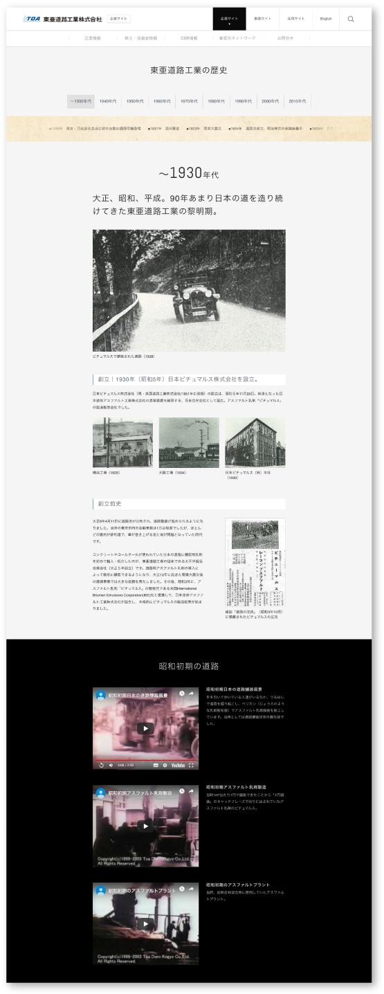 創業から1930年代までのページ