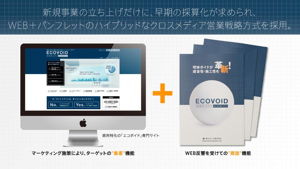 建設営業パンフレットデザイン+Webデザイン