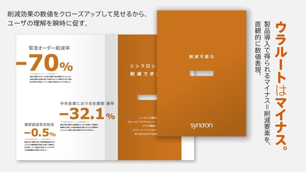 企業間取引パンフレットデザイン