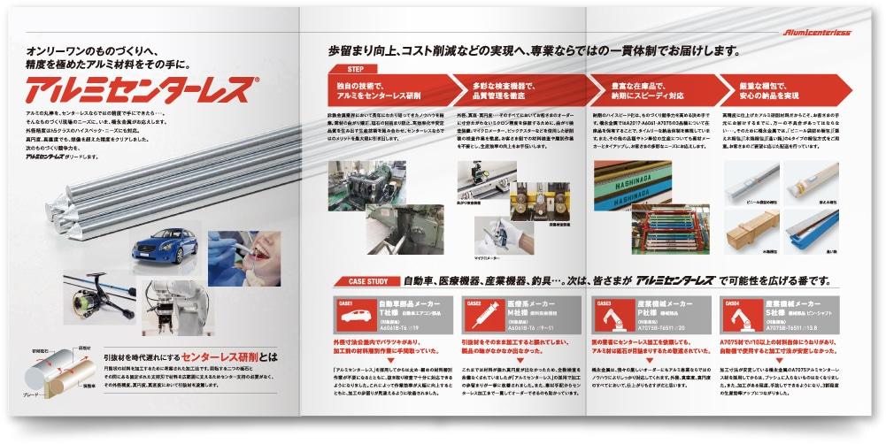 橋永金属株式会社 様|新・製品パンフレットのフルオープン