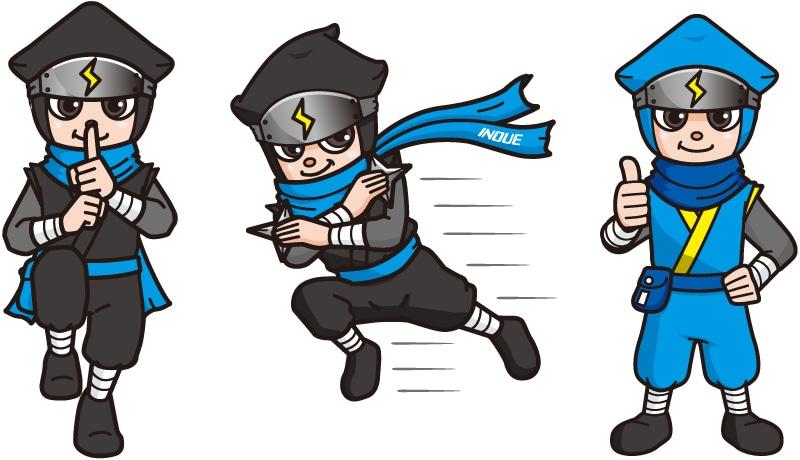 キャラクター【伝説の電設マン】の基本デザイン