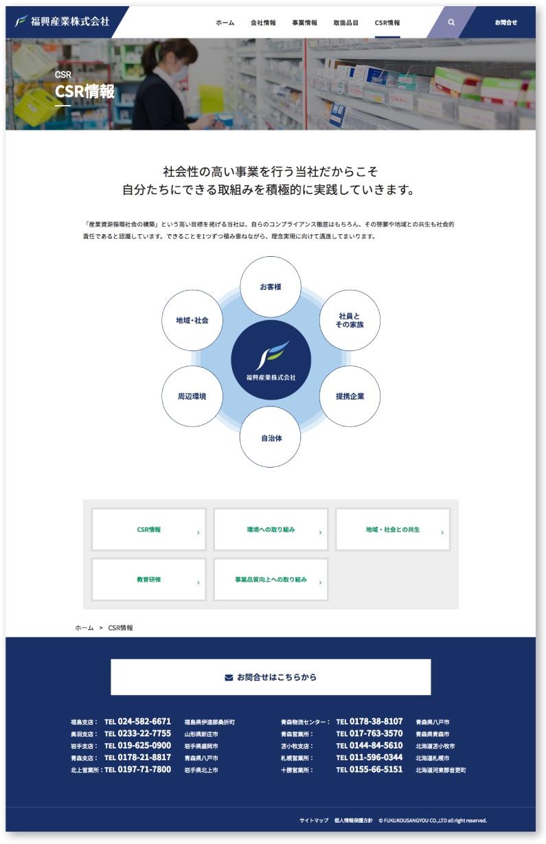 CSR情報のページ