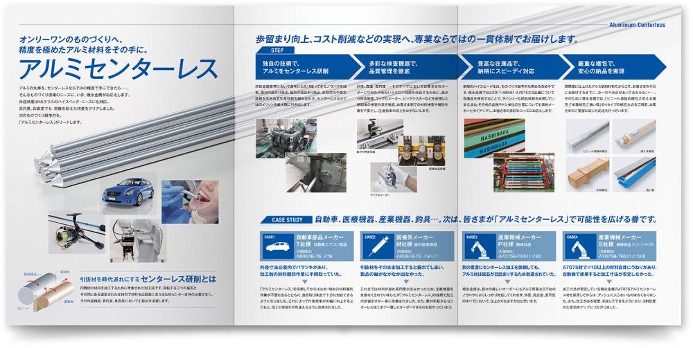 橋永金属株式会社 様|旧・製品パンフレットのフルオープン