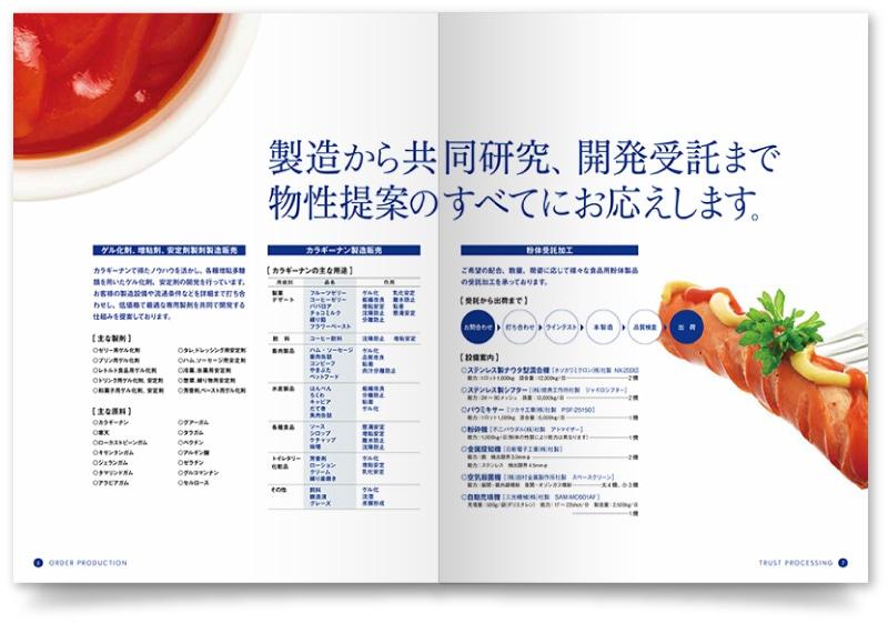 会社案内の企業情報ページ