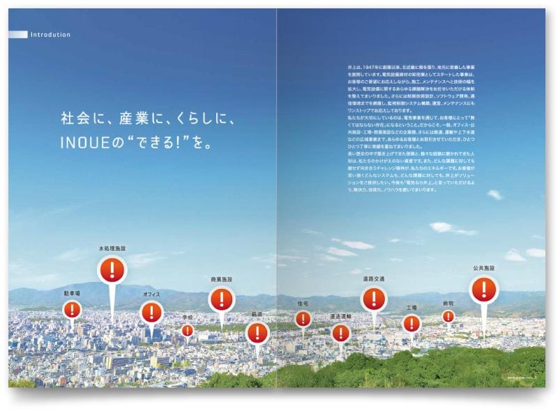 企業パンフレットの中面デザイン