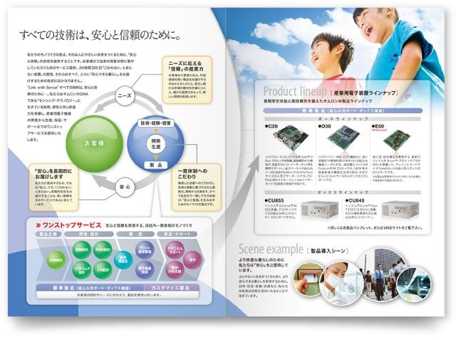 プロダクトガイドのパンフレットデザイン