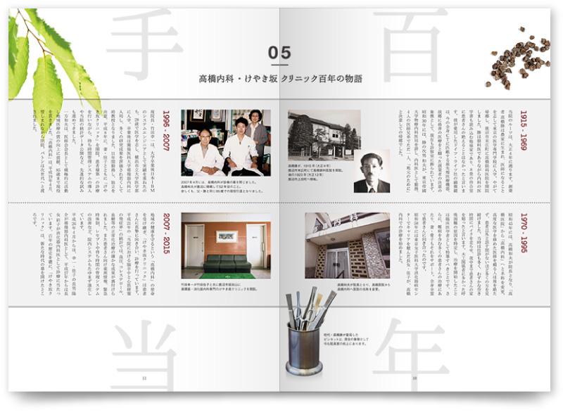 周年パンフレットの雑誌風デザイン