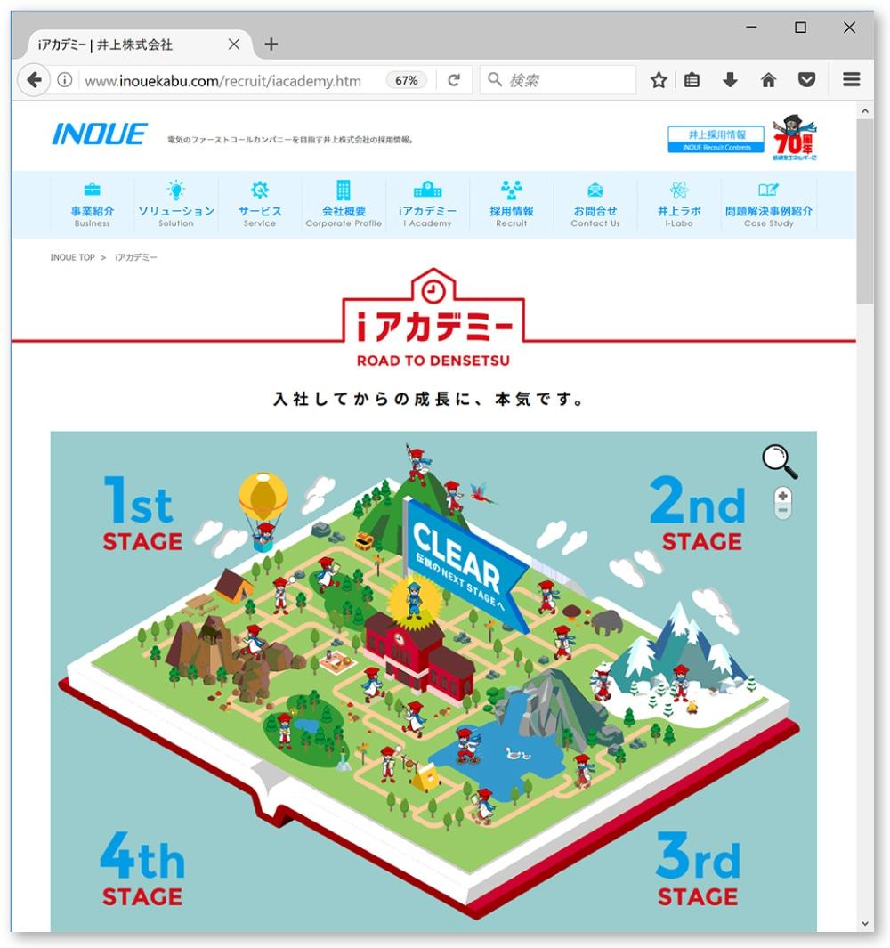 オフィシャルWebサイト内の「iアカデミー」ページ