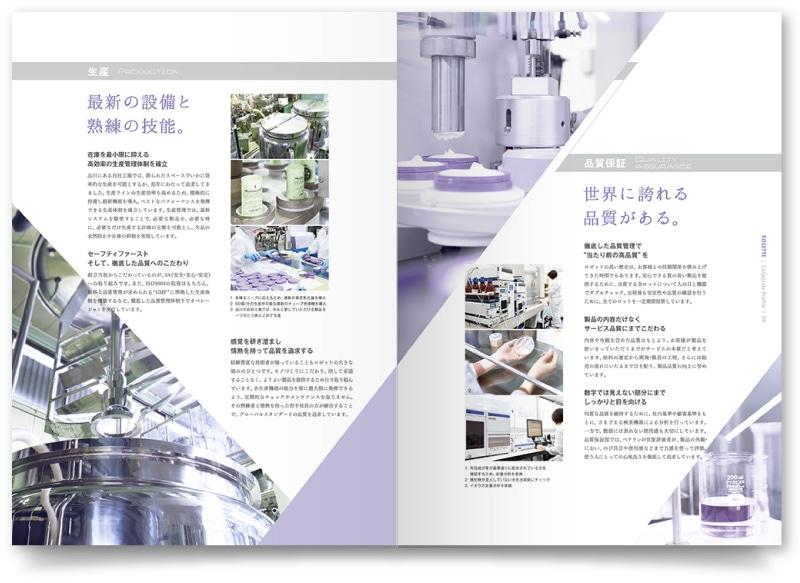 会社案内各ページのデザイン