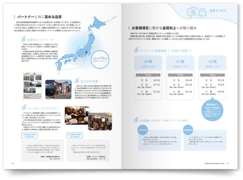 CSRパンフレットの各ページ
