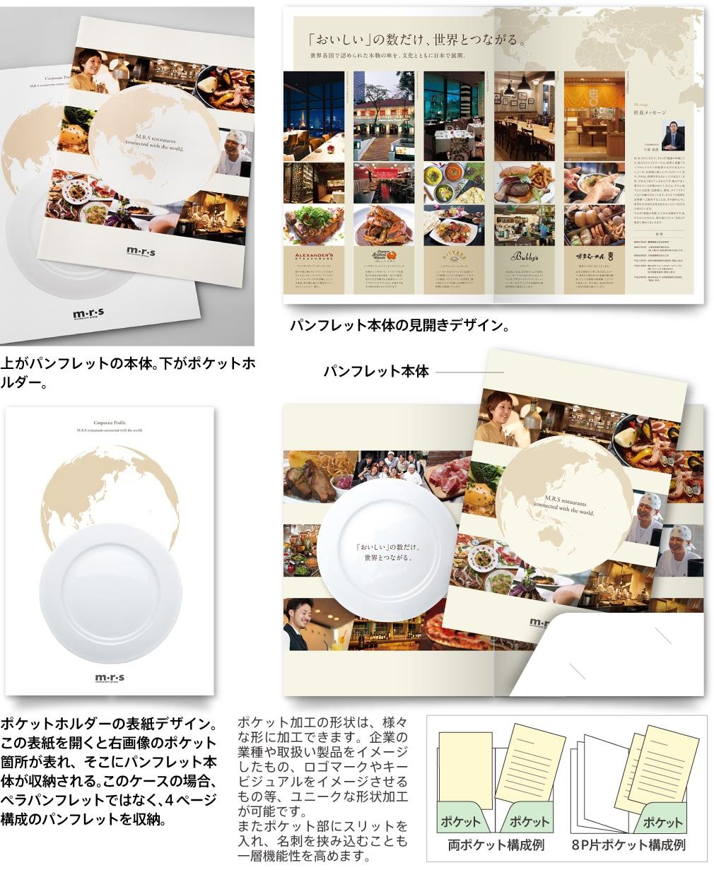 ポケットホルダー+冊子・ペラパンフレット タイプ