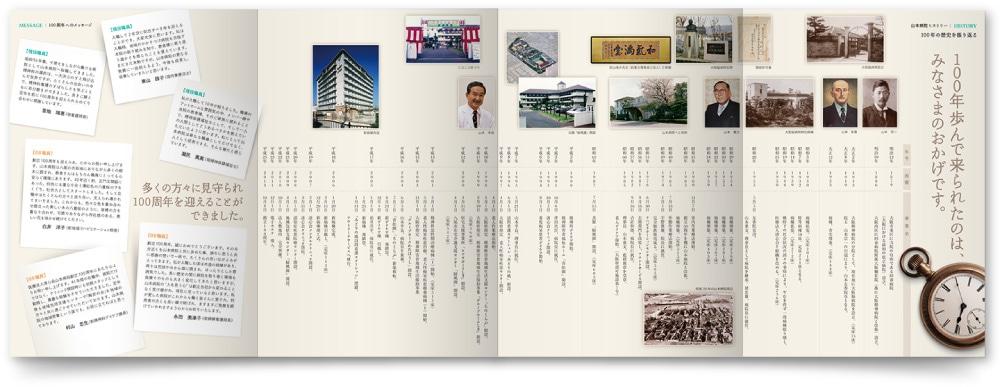 周年パンフレット デザイン