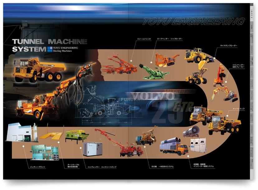 建設機械の会社総合カタログ制作