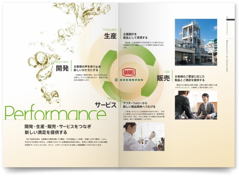 石油製品製造会社の会社案内制作