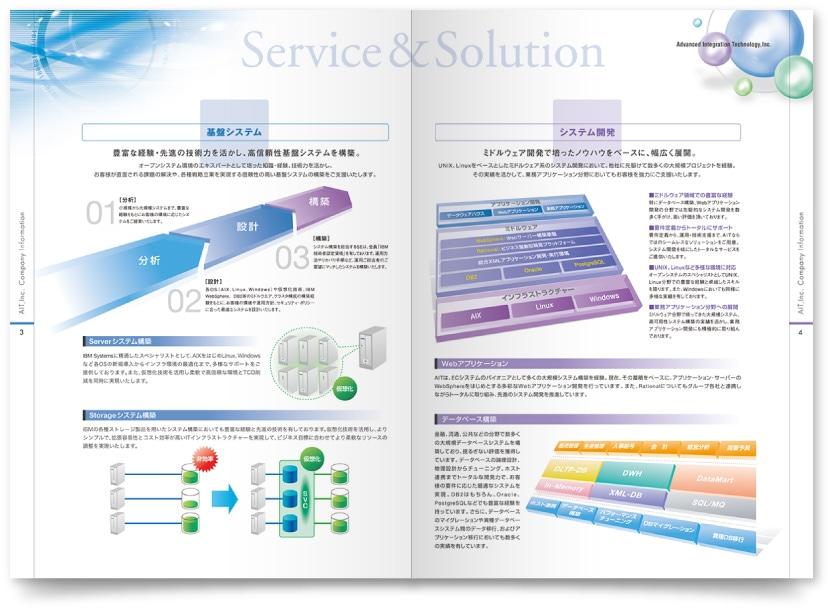 ハードウェア・ソフトウェア販売会社案内パンフレット制作