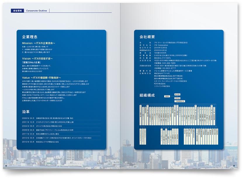 情報通信サービス会社案内デザイン