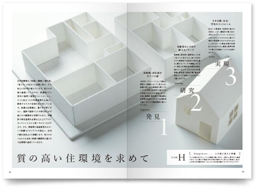 ハウジングメーカー デザイン会社案内作成
