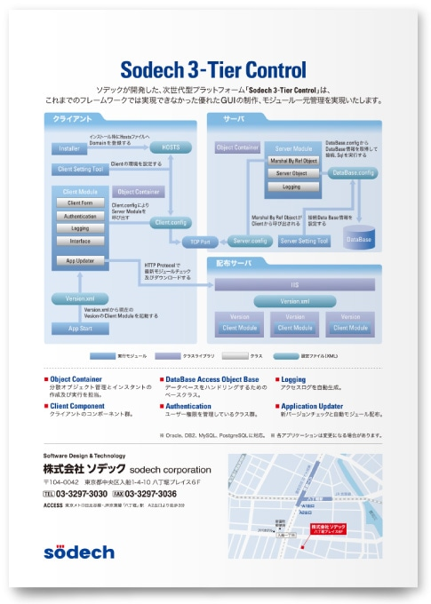 システム開発会社 企業案内パンフレット制作