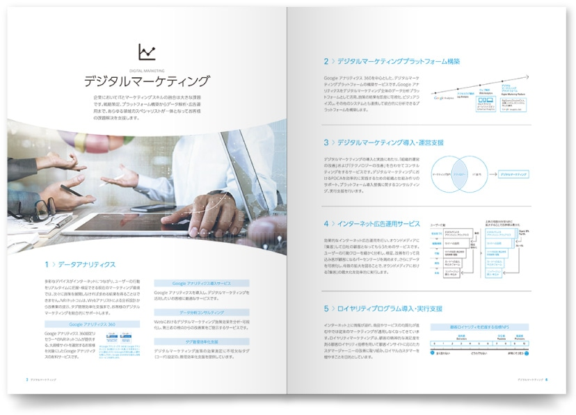 IT企業 会社案内パンフレット制作