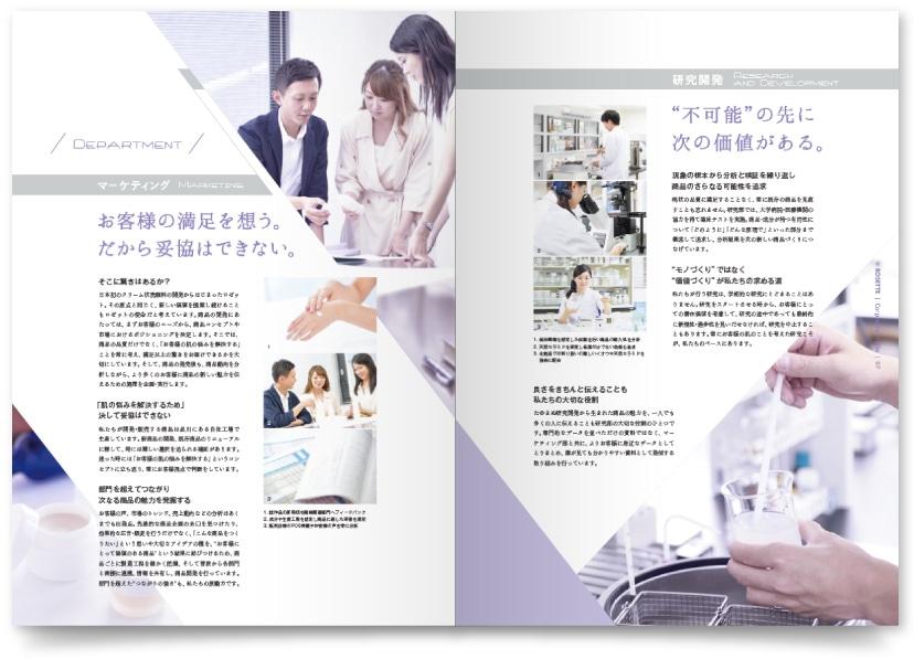 化粧品製造業 企業案内パンフレット
