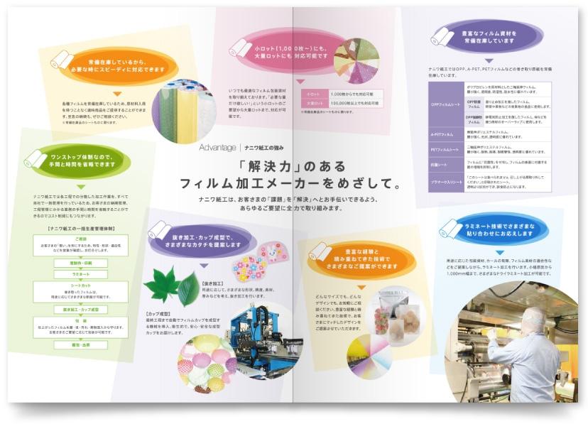 包装資材製造会社の会社案内パンフレット