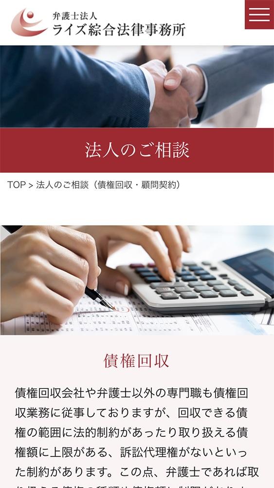 弁護士法人ライズ綜合法律事務所様・Webサイト