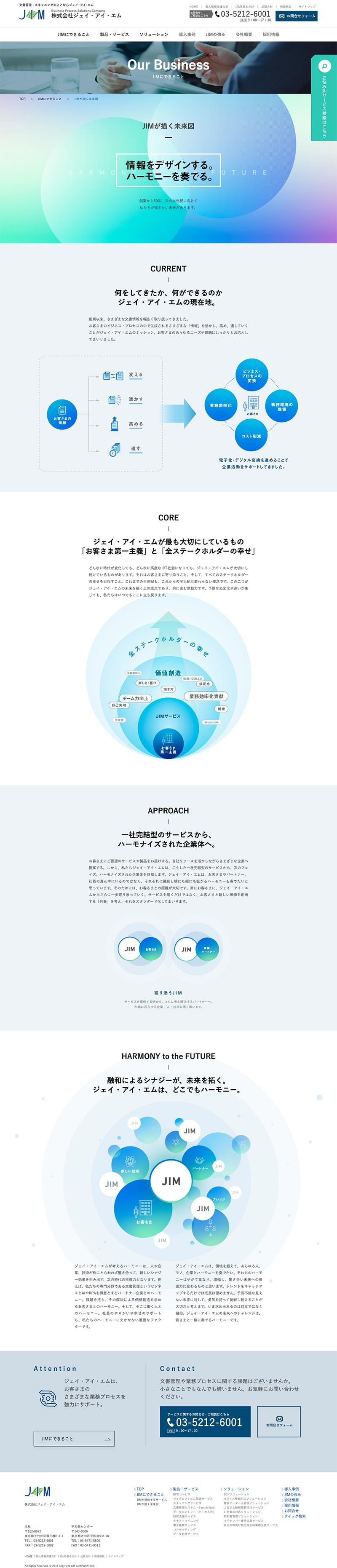 株式会社ジェイ・アイ・エム様・Webサイト