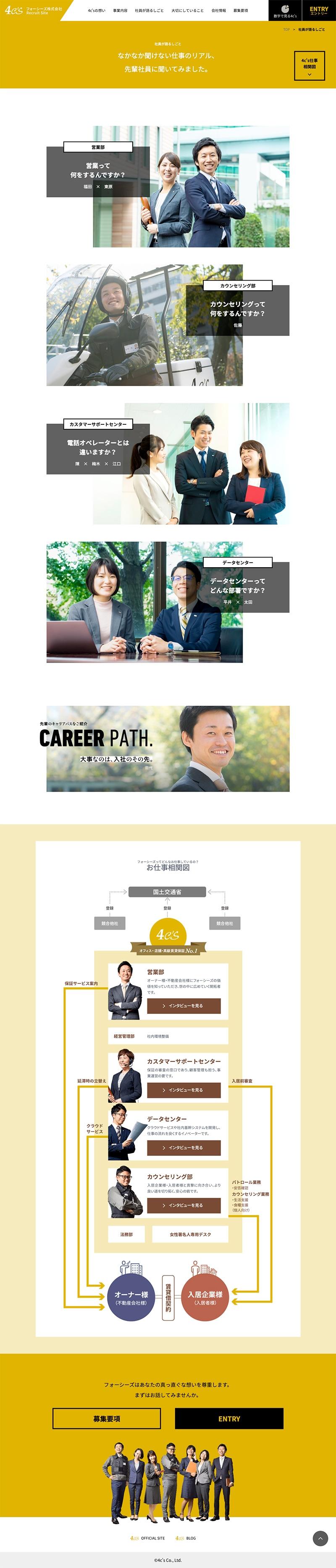フォーシーズ株式会社様・採用サイト