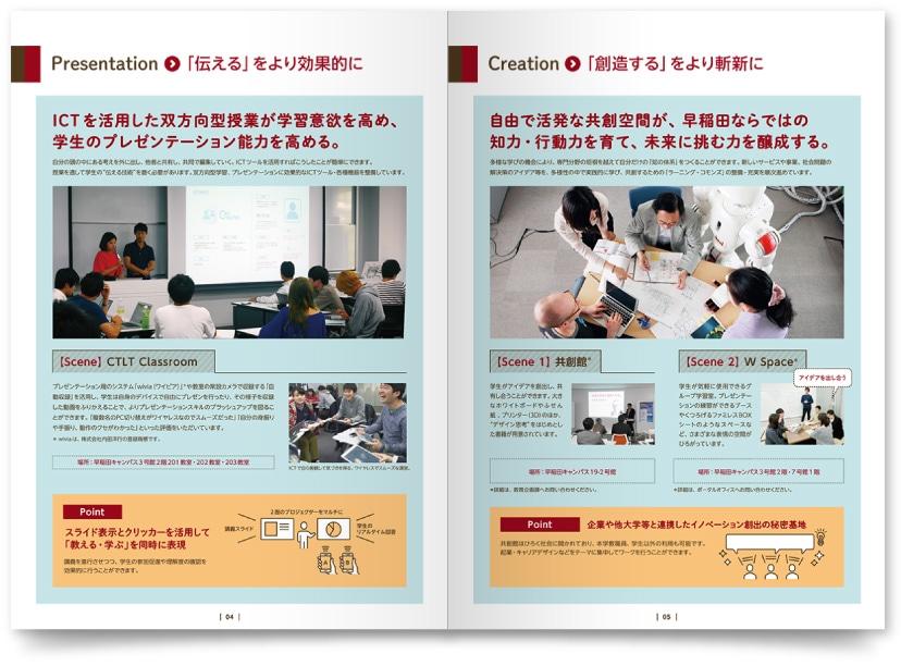 大学ブランディングのパンフレットデザイン