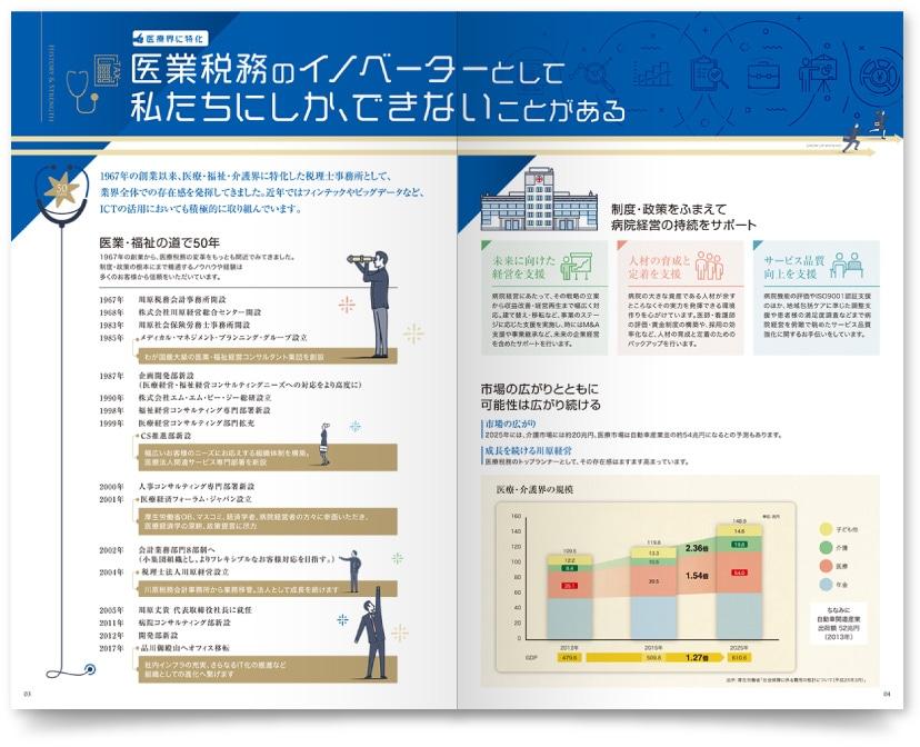 税理士法人 川原経営様・パンフレット