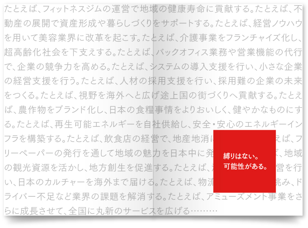 株式会社丸新HD様・採用パンフレット