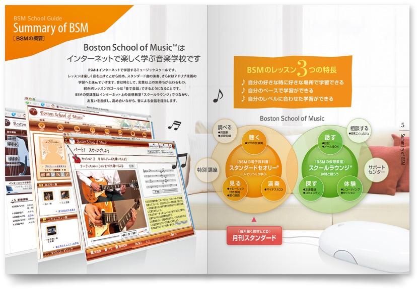 音楽スクール会社パンフレットデザイン