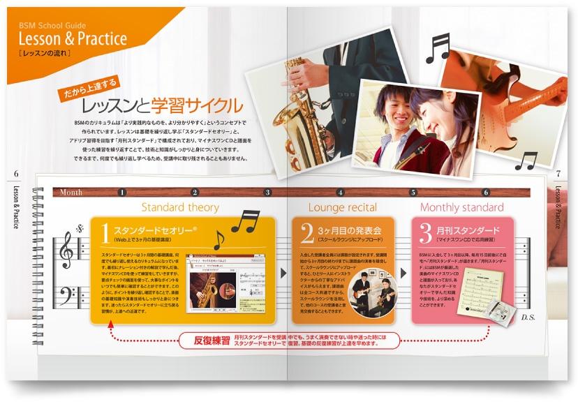 ミュージックスクールのパンフレット制作