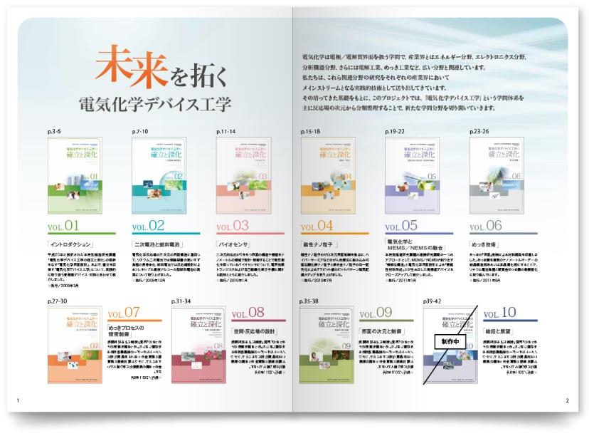 大学化学研究室のパンフレットデザイン