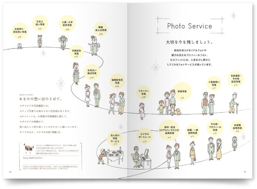 写真スタジオ会社パンフレットデザイン