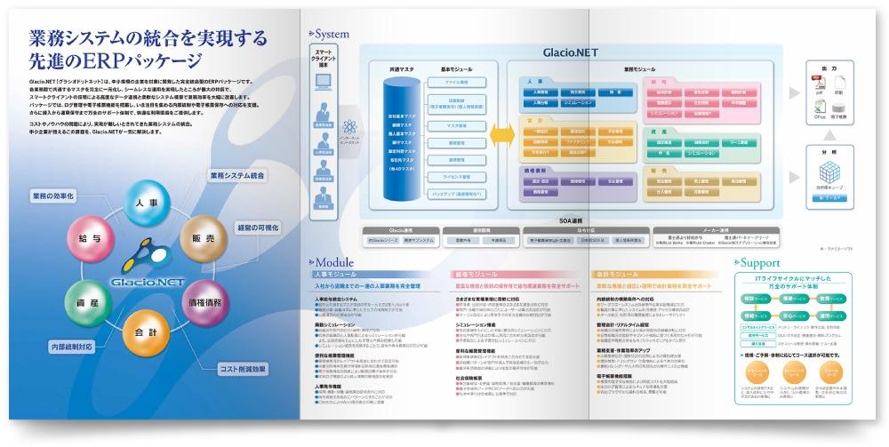 企業間取引のパンフレットデザイン制作