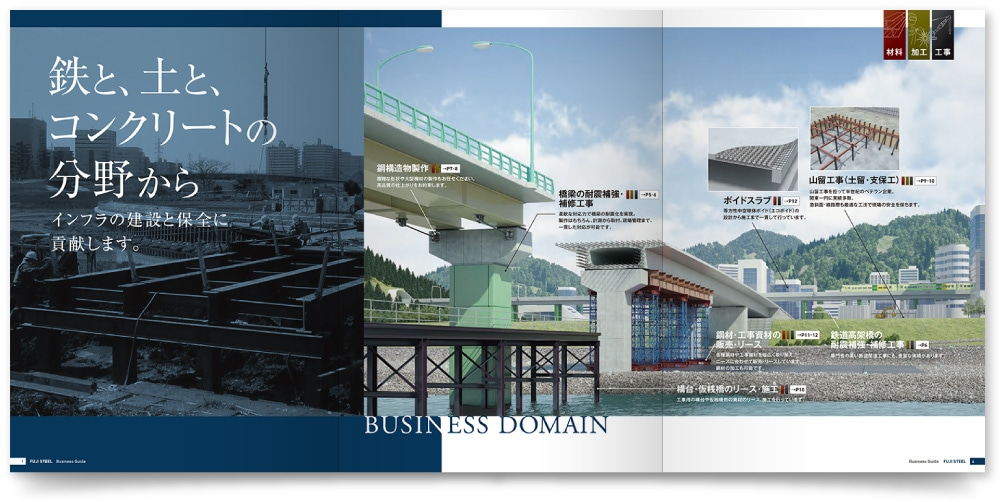 CGデザインの事業パンフレット作成