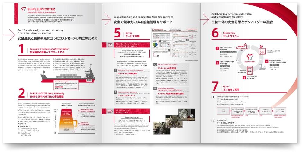法人営業支援 船舶管理システム パンフレット作成