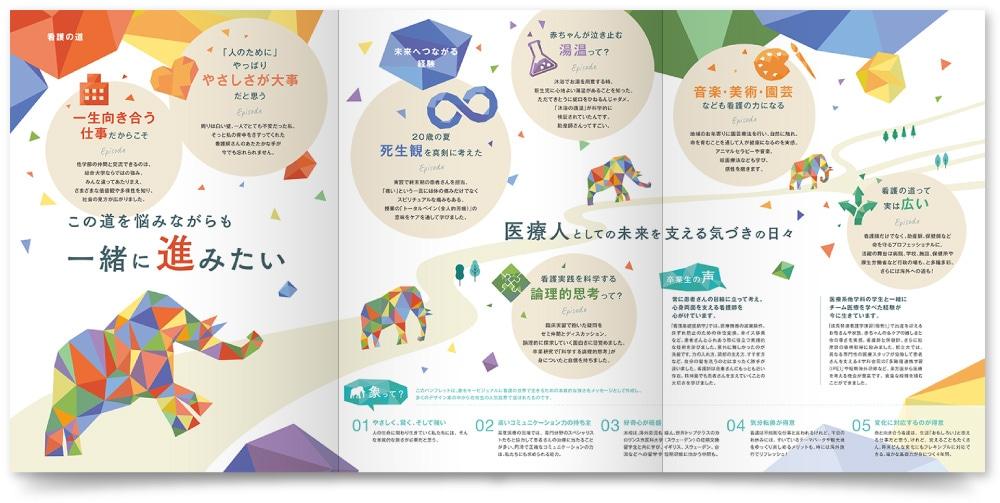 東京都立大学 健康福祉学部看護学科様・パンフレット