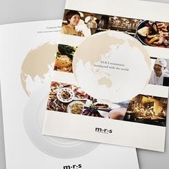 飲食業 レストラン 経営コンサル パンフレットデザイン