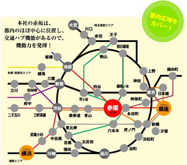 東京・首都圏訪問対応MAP